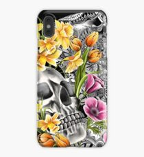 Doodle Skull and flower case iPhone XS Max Case