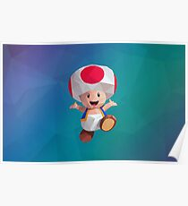 Low Poly Art - Toad Poster