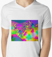 Art is the Proper Task of Life V-Neck T-Shirt