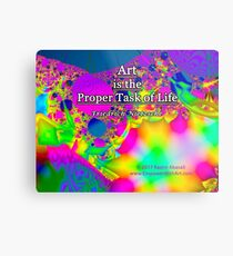 Art is the Proper Task of Life Metal Print
