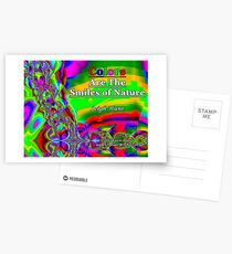 Colors Are The Smiles of Nature Postcards