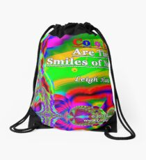 Colors Are The Smiles of Nature Drawstring Bag
