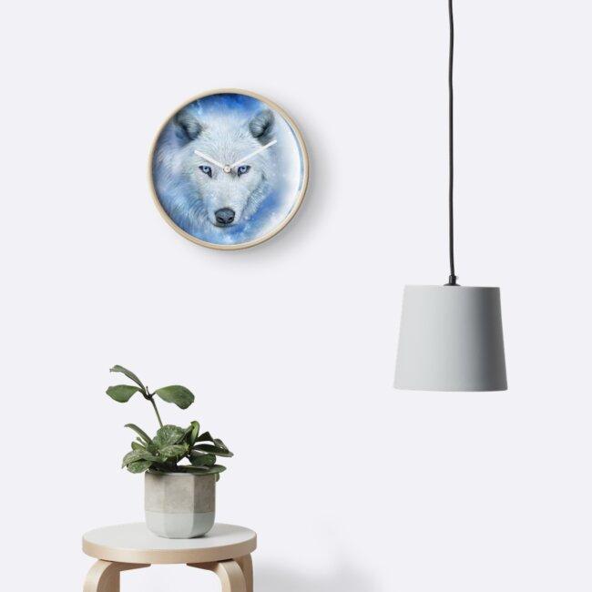 Weißer Wolfs-Mond von Carol  Cavalaris