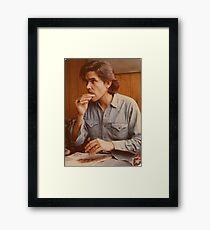 Guy Clark Rolling Cigarette Framed Print