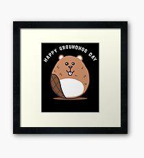 Cute Groundhog Day Apparel Framed Print