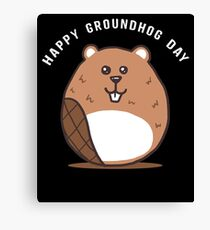 Cute Groundhog Day Apparel Canvas Print