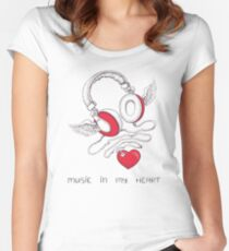 Music In My Heart Women's Fitted Scoop T-Shirt