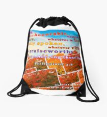 Continue Considering These Things Drawstring Bag