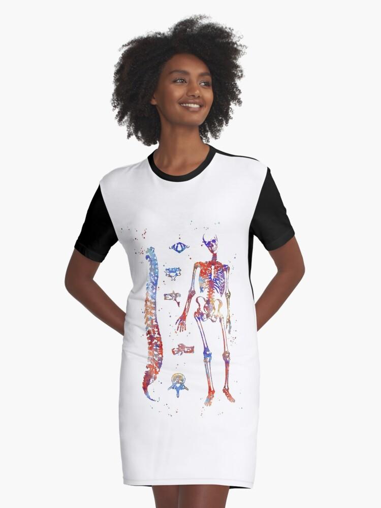 Vestidos camiseta «Huesos de anatomía humana, diagrama óseo visual ...