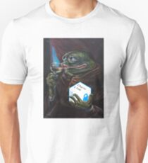 Oil Canvas Pepe Holding Chainlink Unisex T-Shirt