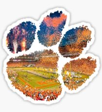 Clemson University (w/ Football Game Background) Sticker