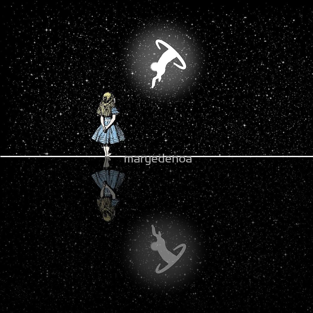 «Siga El Conejo Blanco - Noche Estrellada» de maryedenoa