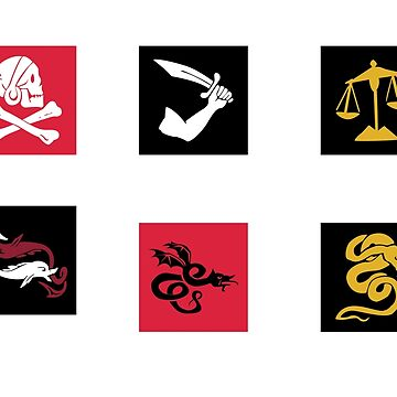 Uncharted 4 Pirate Sigils Sticker Pack 1 by KORDesigns
