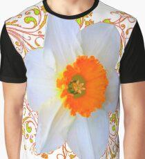 SPRING DAFFODIL SCROLLS ART  Graphic T-Shirt