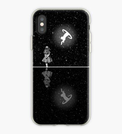FollowThe White Rabbit - Noche estrellada - Blanco y negro Vinilo o funda para iPhone