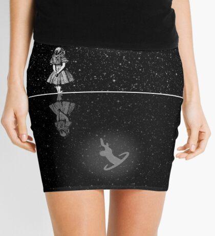 FollowThe White Rabbit - Noche estrellada - Blanco y negro Minifalda