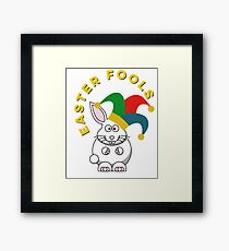 Easter Fools, Jester Bunny On April Fools Day Framed Print