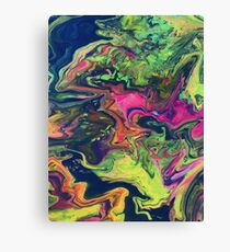 Oil Paint Spill Canvas Print