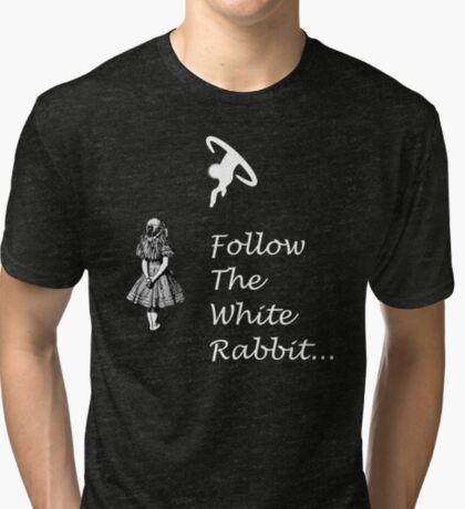 Seguir SigueEl Conejo Blanco Camiseta de tejido mixto