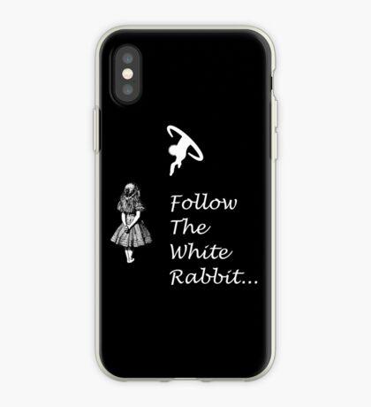 Seguir SigueEl Conejo Blanco Vinilo o funda para iPhone