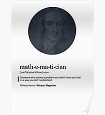 Math: The Definition of a Mathematician (Humor)  Poster