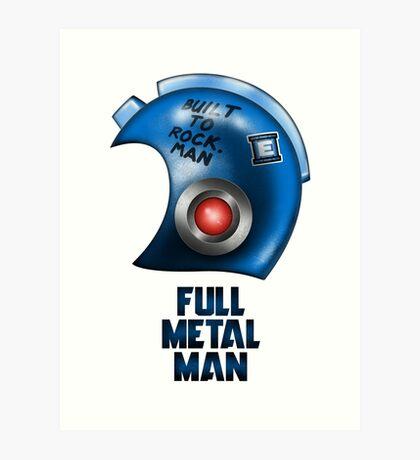 Full Metal Man Art Print
