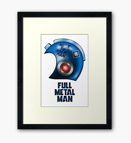 Full Metal Man Framed Print