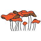 Orange Mushroom Group | Food, Nature, Art by C. Tarantino