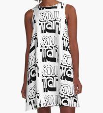 SEELENZUG (SCHWARZ) A-Linien Kleid