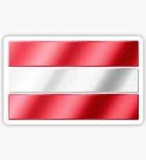 Austrian Flag - Austria - Metallic Sticker