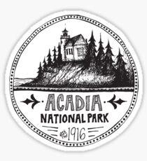 Pegatina Círculo del Parque Nacional de Acadia