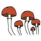 Umbrella Mushrooms | Nature, Food, Art by C. Tarantino