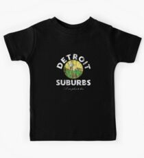 Detroit Suburbs A Nice Place to Live Funny City Suburban Sprawl Kids Tee