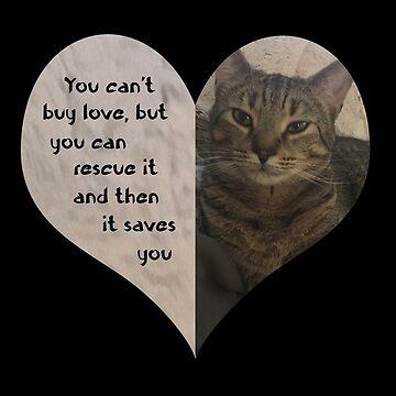Rescue Love Kitty Cat Heart by HeartZenMinds