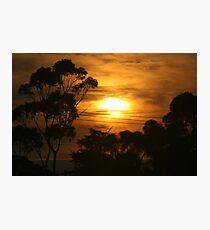 Windscreen sunrise  Photographic Print