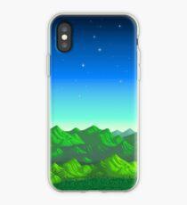 Vinilo o funda para iPhone Valle de Stardew - Montañas