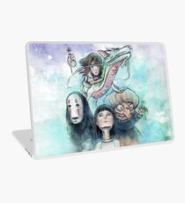 Spirited Away Miyazaki Tribute Watercolor Painting Laptop Skin