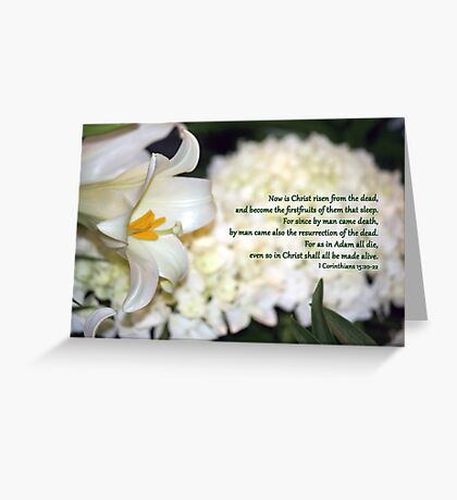 Even so in Christ shall all be made alive. Greeting Card