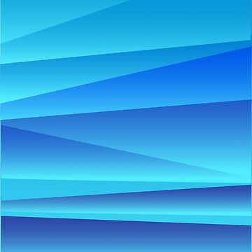 Blue Angular Abstraction by jeastphoto