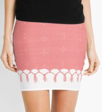 Bohemian Pink Chic Mini Skirt