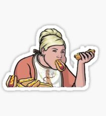 Hot Dog Champ Pam Sticker