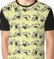Crazy Monkey Pattern Graphic T-Shirt