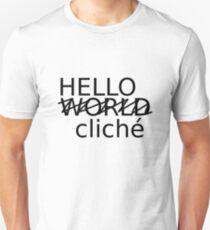 Hello World cliché (W) Unisex T-Shirt