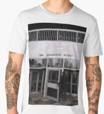 New York, Manhattan, Brooklyn, New York City, architecture, street, building, tree, car, pedestrians, day, night, nightlight, house, condominium,  Men's Premium T-Shirt