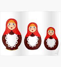 Russian toy, souvenir Poster