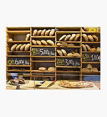 Modern bakery with different kinds of bread Photographic Print