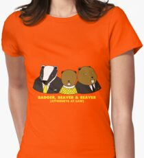 Badger, Beaver and Beaver Women's Fitted T-Shirt