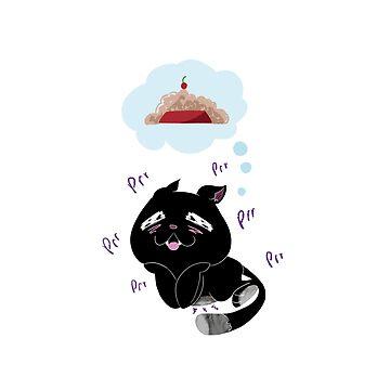 Cat thinking  by manatti