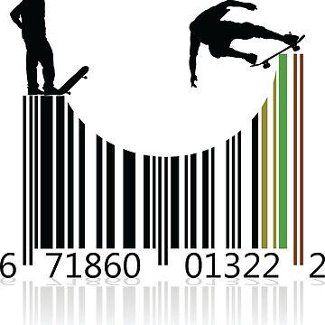 Barcode Skater Accessories by shirtpossum