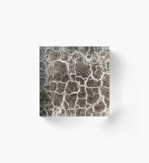 Cracked texture Acrylic Block